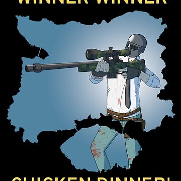 Winner Winner Chicken Dinner! Playerunknown's Battlegrounds - PUBG Man by pennypentan