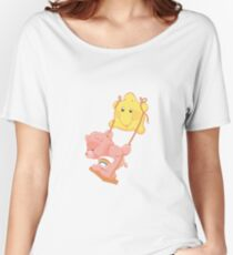 Care Bear on a swing Women's Relaxed Fit T-Shirt