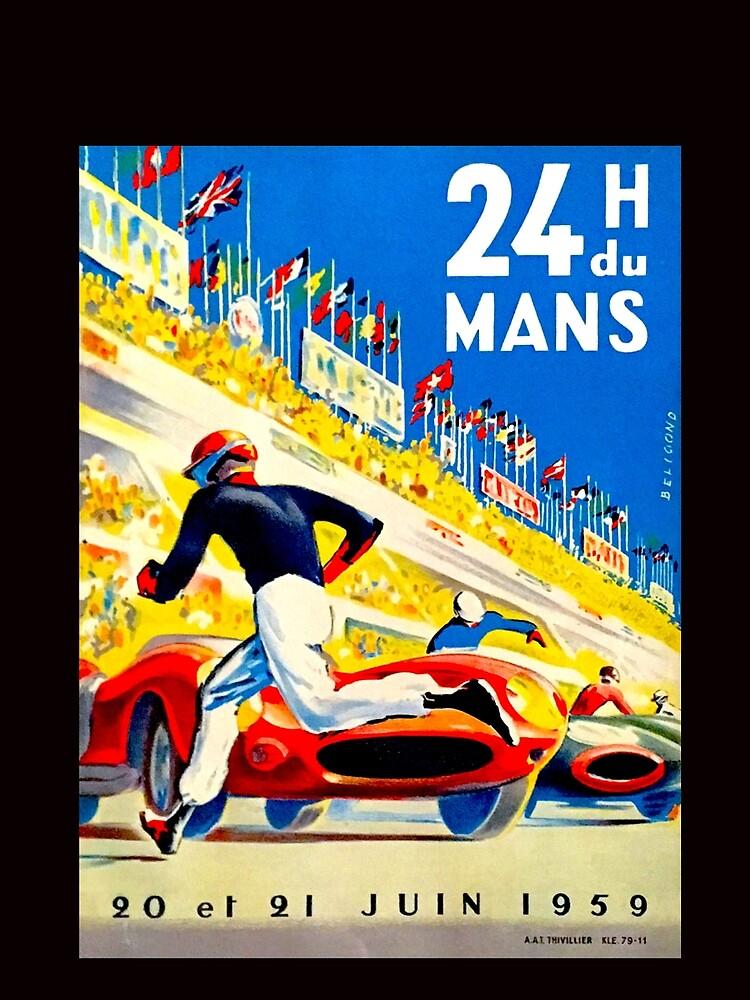 """""""MANS"""" 24 Stunden Grand Prix Autorennen von posterbobs"""