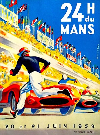 """""""MANS"""" 24 Hour Grand Prix Auto Race by posterbobs"""