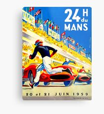 """MANS"" 24 Hour Grand Prix Auto Race Metal Print"