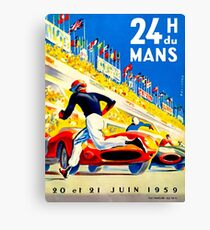 """MANS"" 24 Hour Grand Prix Auto Race Canvas Print"