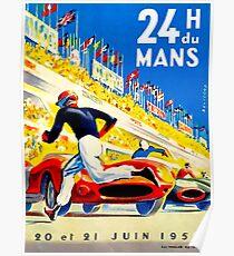 """""""MANS"""" 24 Stunden Grand Prix Autorennen Poster"""