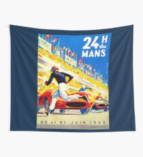 """""""MANS"""" 24 Hour Grand Prix Auto Race Wall Tapestry"""
