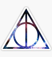 Galaxy hallows 2 - wand, cloak, stone Sticker
