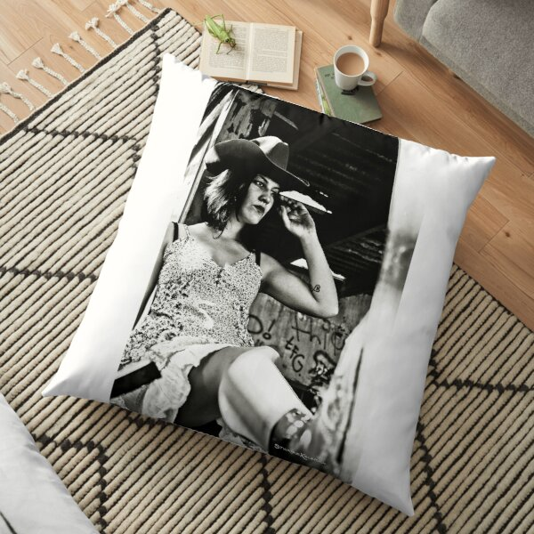 Cowgirl of Dawn Floor Pillow