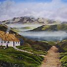 Irish Morning Mist - Oil Painting by Avril Brand