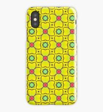 Yellow Floral Repeating Pattern iPhone Case/Skin