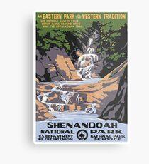 Vintage National Park Travel Poster Metal Print