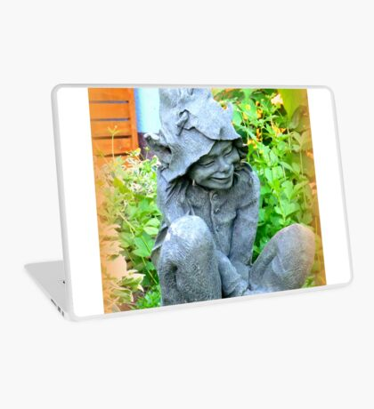 Happy Garden Elf Laptop Skin