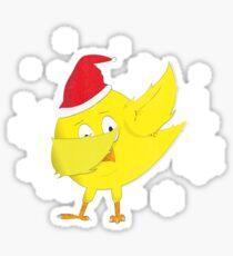Funny Christmas Gift Dabbing Chick Vintage Design Sticker