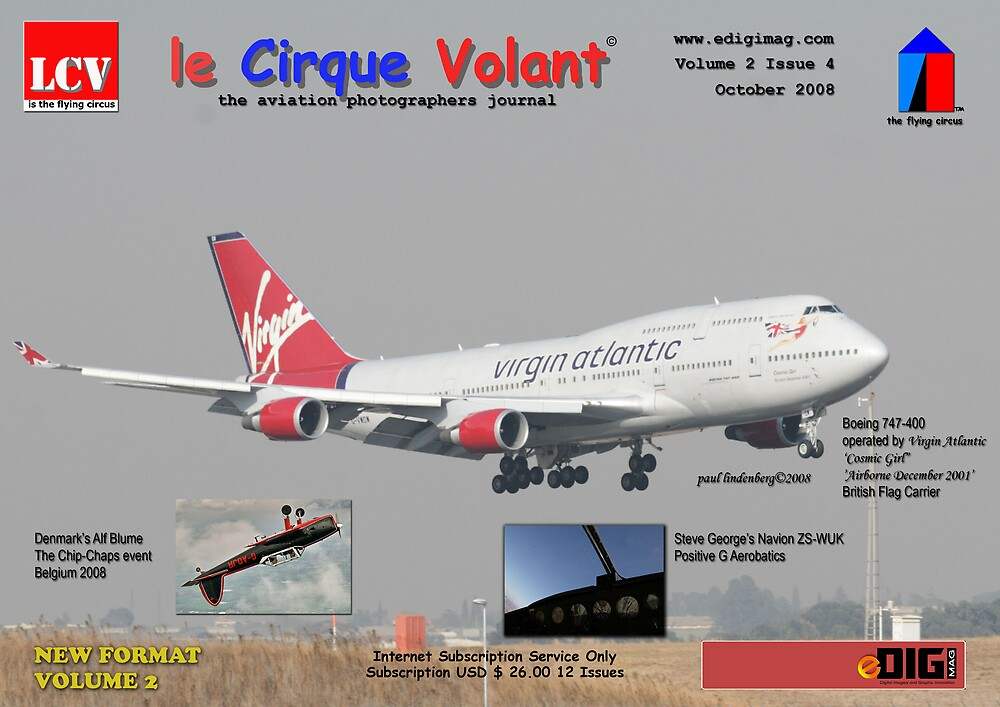 le Cirque Volant - Cover Design - October 2008 by Paul Lindenberg