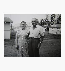 Gran and Grandad Photographic Print