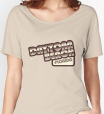 Daytona Beach, Florida | Retro Halftone Women's Relaxed Fit T-Shirt