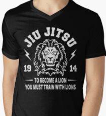 JIU JITSU - BECOME A LION - BJJ Men's V-Neck T-Shirt