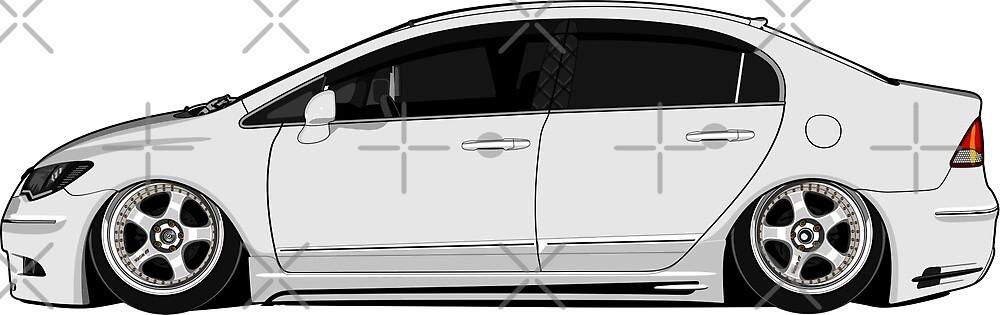 Honda Civic Jeremy Stewartside by zero260