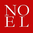 NOEL Red Christmas Pillow, Tote, Cards by Ann Drake