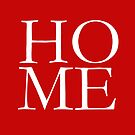 HOME Red Pillow, Tote, Cards by Ann Drake
