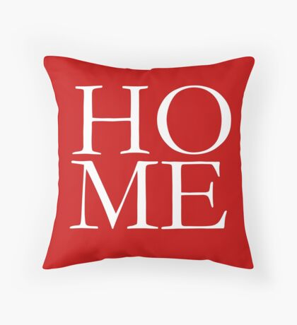 HOME Red Pillow, Tote, Cards Throw Pillow