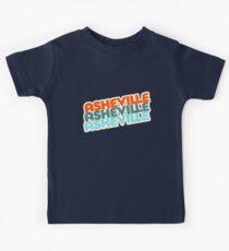 Asheville, NC | Retro-Stapel Kinder T-Shirt