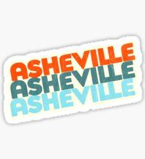 Asheville, NC | Retro Stack Sticker
