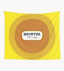 Bristol   Retro Badge Wall Tapestry