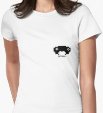 scree~ badge Women's Fitted T-Shirt