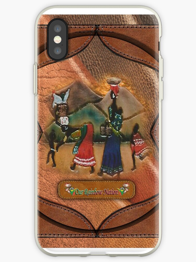 African Art Leather Crafts Iphone Cases Covers By Nadinemay