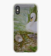 Swan and Cygnet iPhone Case