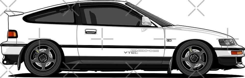 Honda Crx_BW by zero260