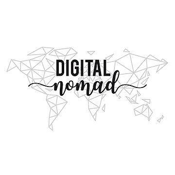 Digital nomad geometric world map by beakraus