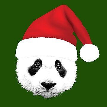 Panda Panda Panda Santa Tshirt by RosinaSays