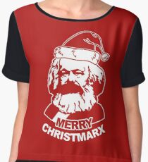 Ho Ho Ho Merry Christmarx- Funny Christmas Chiffon Top