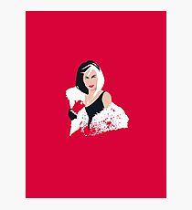 People always underestimate a girl in diamonds and furs (Cruella De Vil) Photographic Print