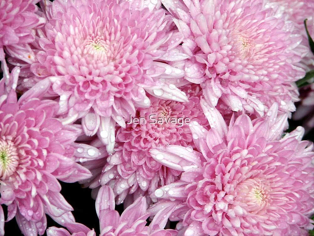 Pink Flowers by Jen Savage