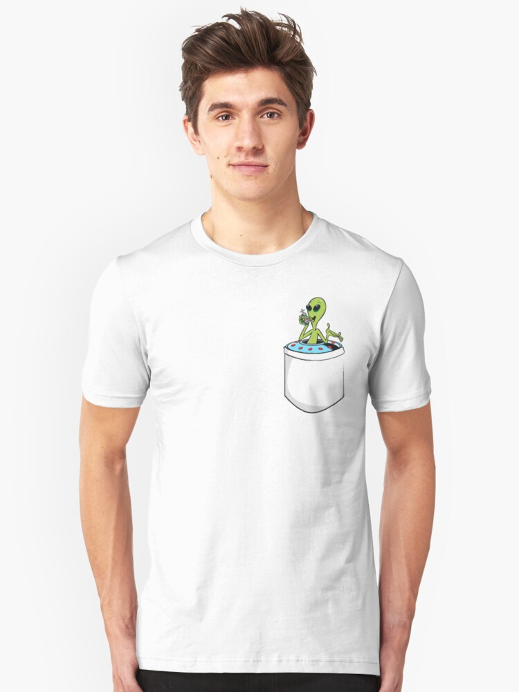 Ufo in a Pocket Unisex T-Shirt Front