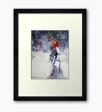 Snow Storm - Winter Art Gallery Framed Print
