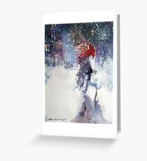 Snow Storm - Winter Art Gallery Greeting Card