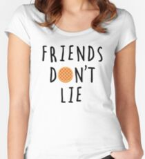Stranger Things - Friends Don't Lie Women's Fitted Scoop T-Shirt