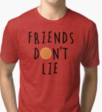 Stranger Things - Friends Don't Lie Tri-blend T-Shirt