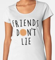 Stranger Things - Friends Don't Lie Women's Premium T-Shirt
