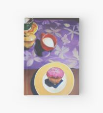 Camellias with pink Cupcake Hardcover Journal
