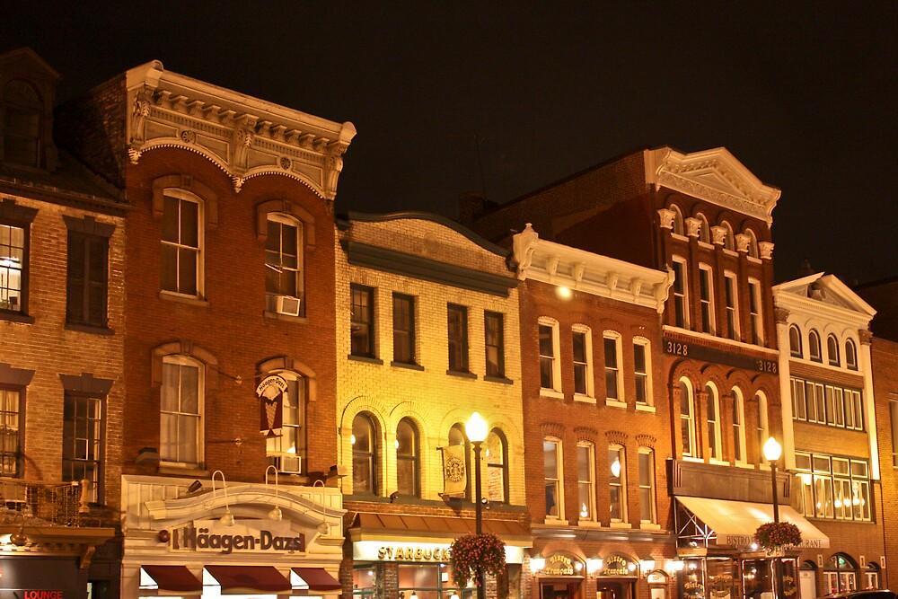 Georgetown at night by Andrei Rusu