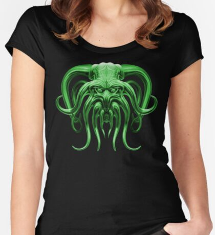 Cthulhu in Green Women's Fitted Scoop T-Shirt