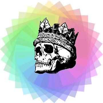 Rainbow Skull by MehGustaa