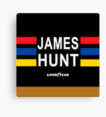 James Hunt helmet (with protection) Canvas Print