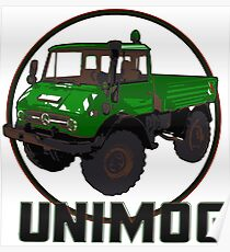 Unimog Green Poster