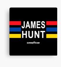 James Hunt helmet (no protector). Canvas Print