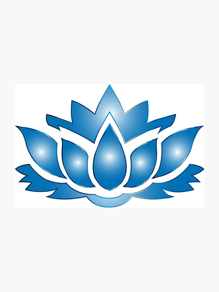Ultramarine Lotus Flower Silhouette No Background Photographic