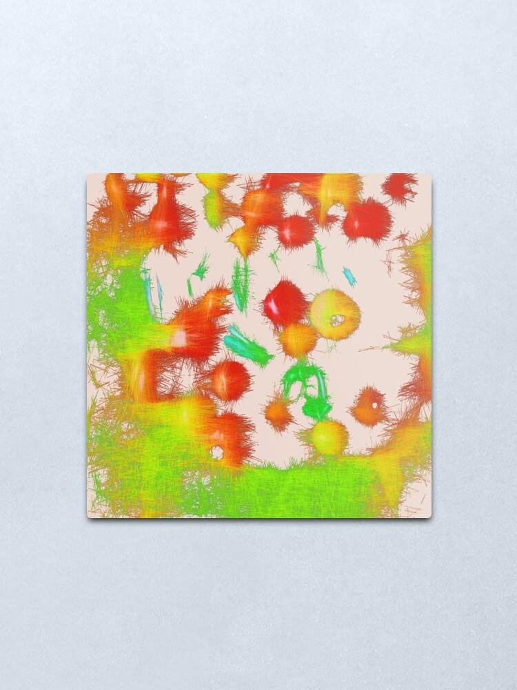 Alternate view of Fruit light mix Metal Print